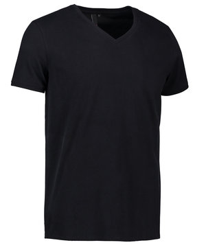 ID V-hals T-shirt, Sort