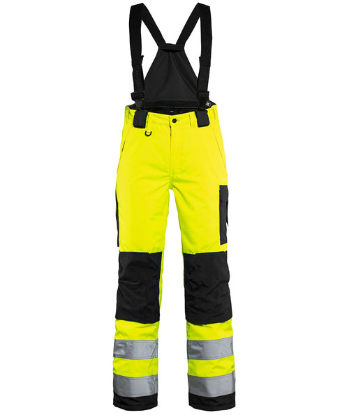 Blåkläder women's winter trousers, Hi-Vis Yellow/Black