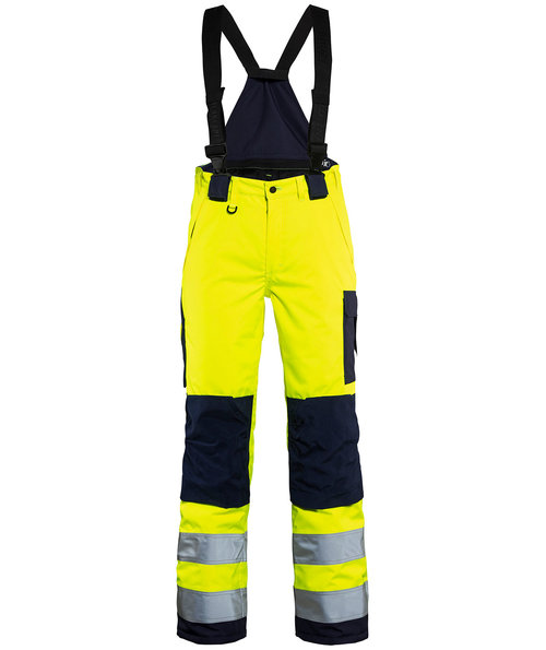 Blåkläder women's winter trousers, Hi-Vis Yellow/Marine Blue