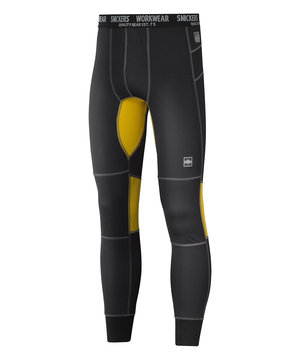 Snickers 37,5® long johns, Black/Mustard