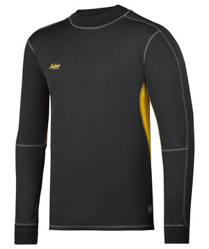 Snickers 37,5® long sleeved t-shirt, Black/Mustard