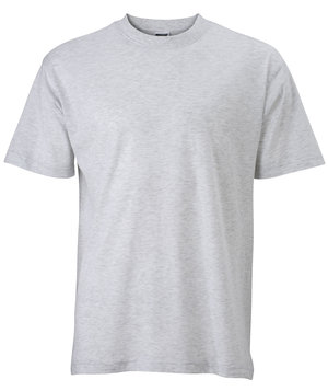 James & Nicholson T-shirt Basic-T, 100% bomull, Grey-Heather