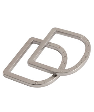 Dunderdon DR1 belt buckle, D-rings, Chrome