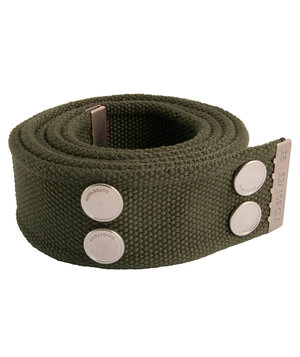 Dunderdon BE01 belt, Olive Green/Chrome