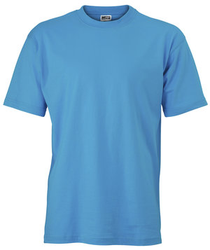 James & Nicholson T-shirt Basic-T, 100% cotton, Turquoise