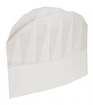Abena Chefs hats 10-pack, disposable polyamide/elasthane, White