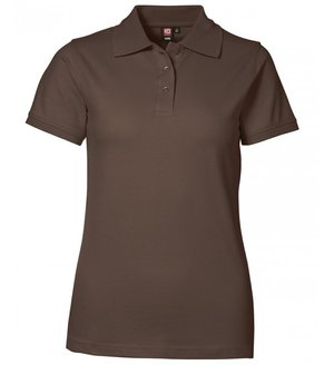 2. sortering ID dame Pique Polo T-shirt m. stretch, Mocca
