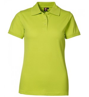 2. sortering ID Pique Polo T-shirt m. stretch, dame, Limegrøn