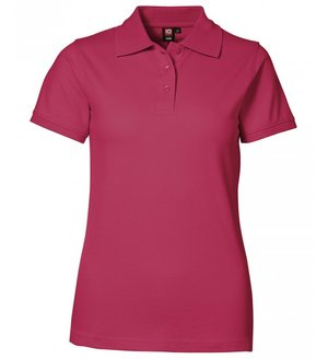 2. sortering ID Pique Polo T-shirt m. stretch, dame, Cerise