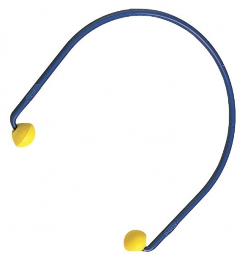 3M EarCaps hearing protector, Blue/Yellow
