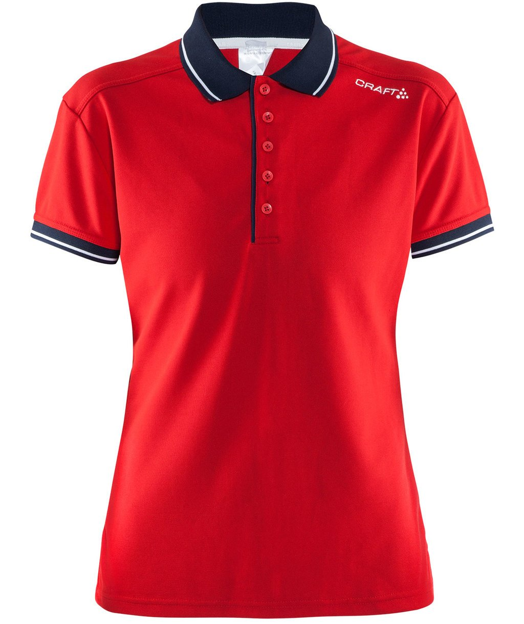 Craft Noble pique dame polo T-shirt, Bright Red