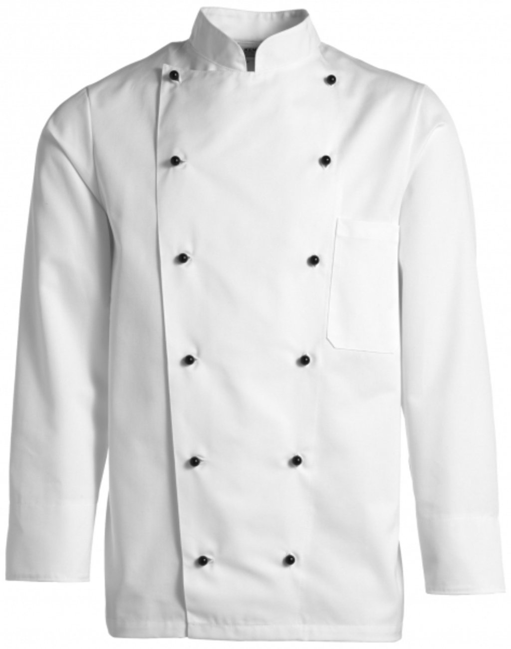 Kentaur chefs jacket without buttons, White