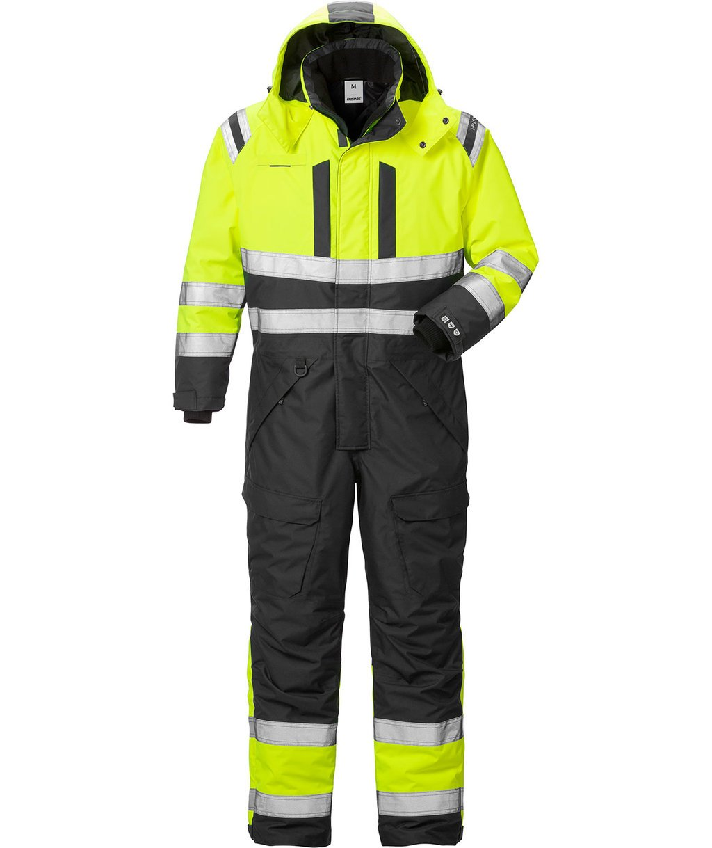Fristads Airtech® thermal coverall 8015, Hi-Vis Yellow/Black