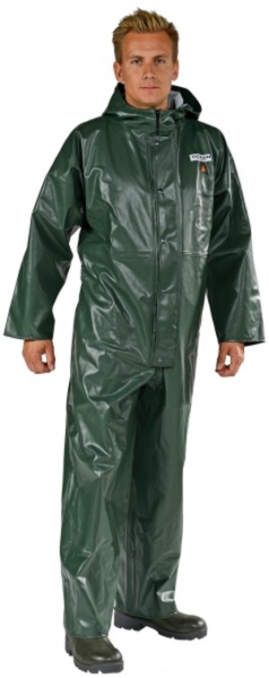 Ocean Offshore rain suit coverall, flame retardant, Olive Green