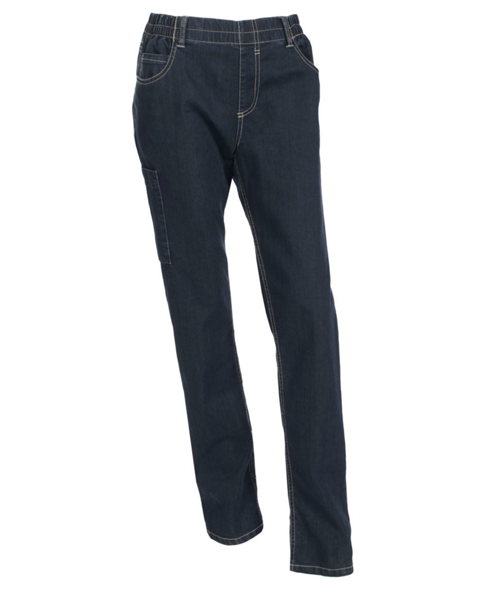 Nybo Workwear Jazz pull-on byxa unisex, Denimblå