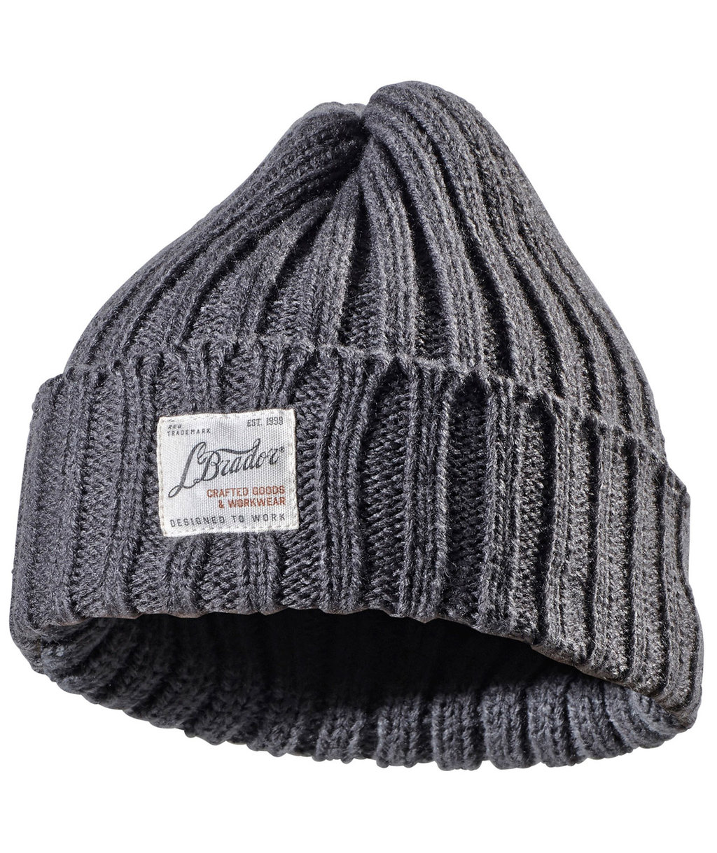L.Brador knitted beanie 738A for kids, Grey