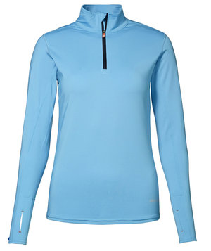 GEYSER løbe T-shirt, langærmet women's warm trainer, Aquablå