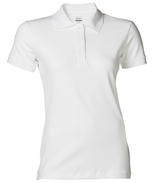 Mascot Crossover Grasse dame polo T-shirt, Hvid