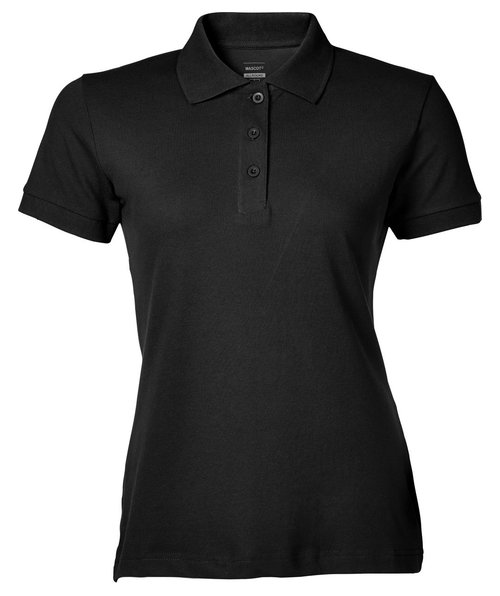 Mascot Crossover Grasse dame polo T-shirt, Sort