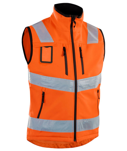 Blåkläder softshell väst, Varsel Orange