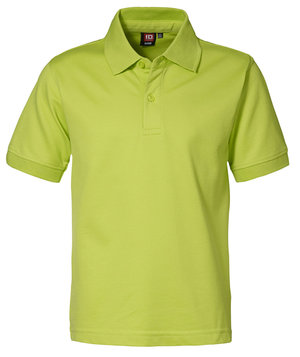 ID Pique polo shirt for kids, Lime Green