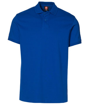 ID Stretch Polo shirt, Azure Blue