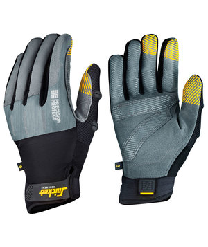 Snickers Precision Protect work gloves, Stone Grey/Black