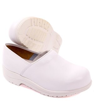 2nd quality product Green Comfort Flex safety clogs with heel cover S2, White