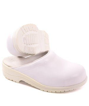 2nd quality product Green Comfort Flex safety clogs without heel cover SB, White