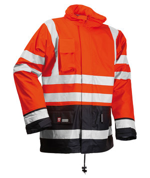 Lyngsøe vinter regnjakke, Hi-Vis Orange/Marine