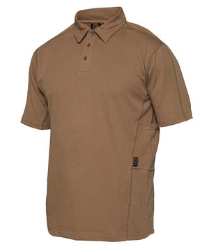 Workzone Functional polo T-skjorte, Brun/Wood