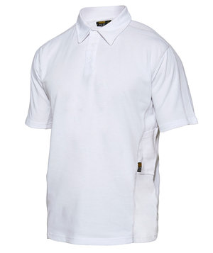 Workzone Functional polo T-skjorte, Hvit