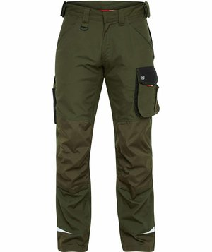 FE Engel Galaxy Work trousers, Forest Green/Black