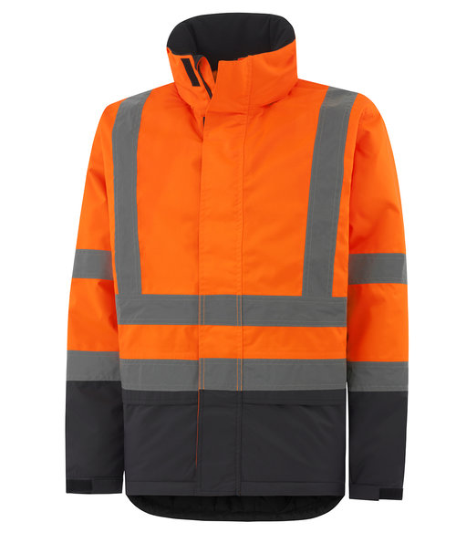 Helly Hansen WW Alta Winterjacke, Hi-Vis Orange/Charcoal