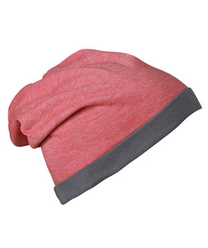 Myrtle Beach Heather beanie, Red-Melange/Dark-Grey