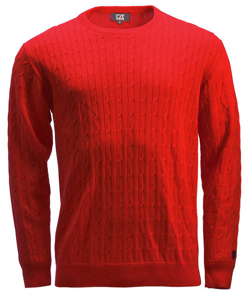 Cutter & Buck knit pullover, Red