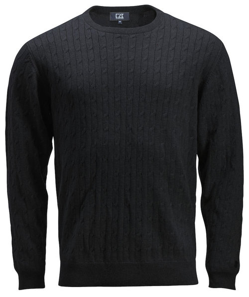 Cutter & Buck strikpullover, Sort