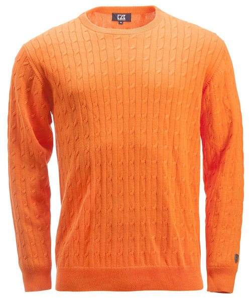 Cutter & Buck strikpullover, Orange