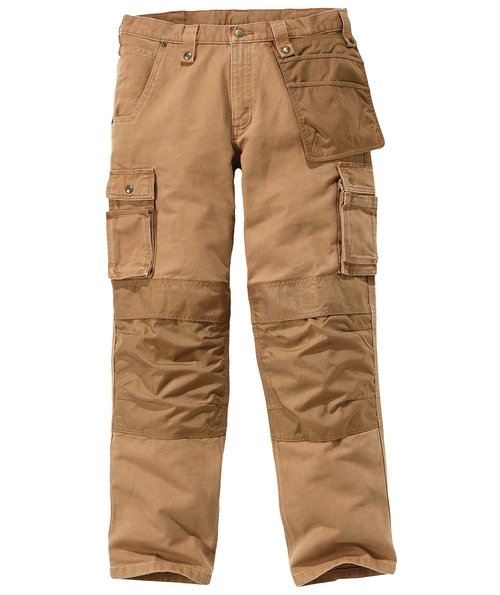 Carhartt Multi Pocket Washed Duck Handwerkerhose, Braun