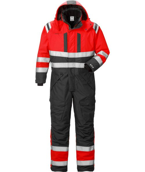 Fristads Airtech® thermal coverall 8015, Hi-Vis Red/Black