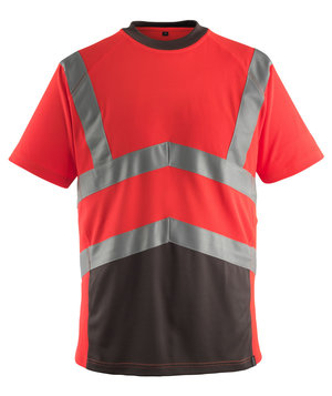 Mascot Gandra work T-shirt, Red/Dark Antracit