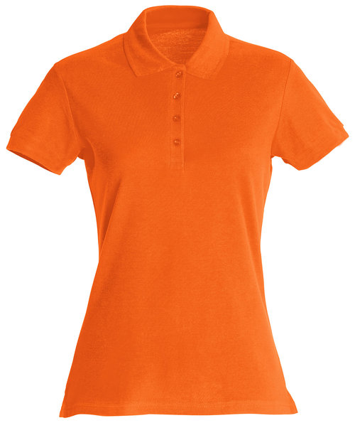 Clique Basic Damen Poloshirt, Orange