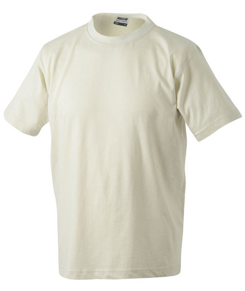 James & Nicholson T-shirt Round-T Heavy, 100% bomuld, Stone
