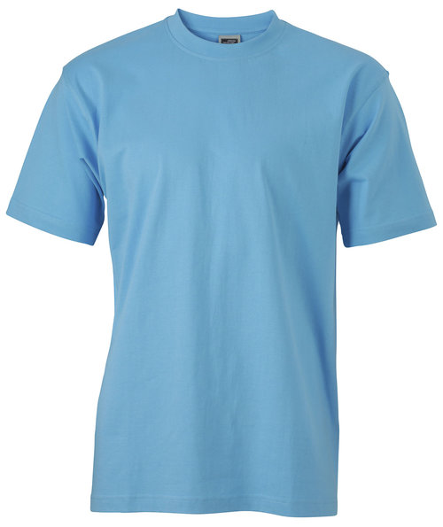 James & Nicholson T-shirt Round-T Heavy, 100% bomull, Sky Blue