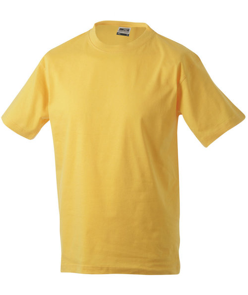 James & Nicholson T-shirt Round-T Heavy, 100% bomull, Gold