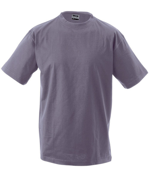 James & Nicholson T-shirt Round-T Heavy, 100% bomull, Lilac