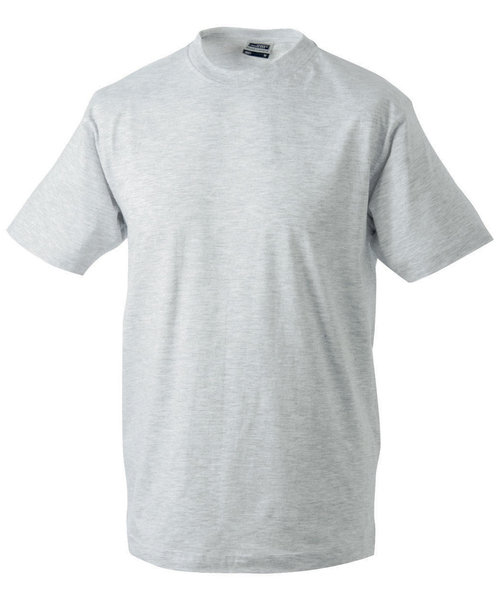 James & Nicholson T-shirt Round-T Heavy, 100% bomuld, Ash