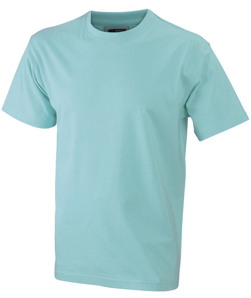 James & Nicholson T-shirt Round-T Heavy, 100% bomull, Mint