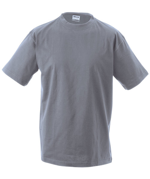 James & Nicholson T-skjorte Round-T Heavy, 100% bomull, Grey-Heather