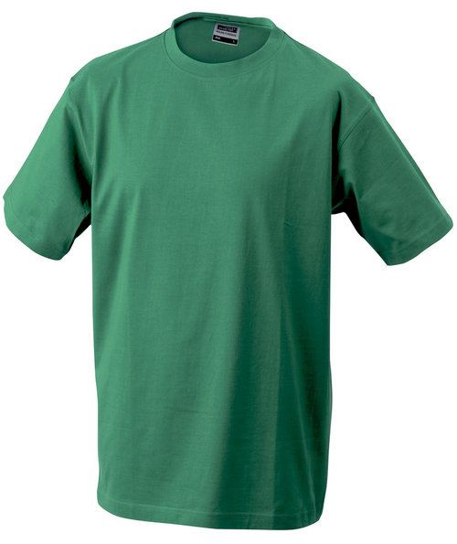 James & Nicholson T-skjorte Round-T Heavy, 100% bomull, Irish-Green